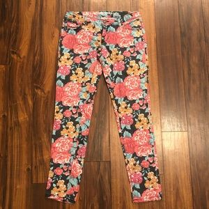 <Mossimo> Floral Skinny Jeans